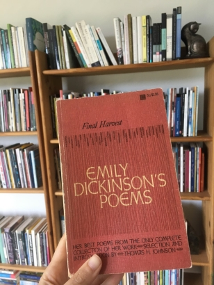 The book of Emily Dickinson Poems that Sandra Beasley read as a child (photo by Sandra Beasley)