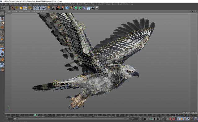 "3D model of the harpy eagle featured in ""Inside Tumucumaque"" (© Interactive Media Foundation)"