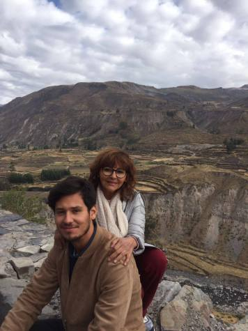 Nasca Uno and his mother at Colca Canyon National Park in Peru in 2017 (photo courtesy of Nasca Uno)