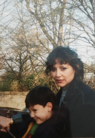 Nasca Uno and his mother in Munich in 1996 (photo courtesy of Nasca Uno)