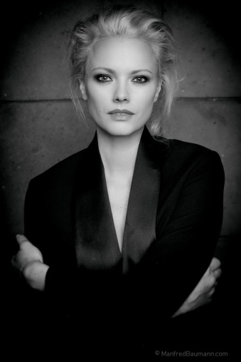 Model and actress Franziska Knuppe (photo by Manfred Baumann)