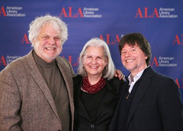 Mark Kurlansky, Terry Tempest Williams and Ken Burns at an American Library Association author forum on Jan. 8, 2016 (photo by AuthorForum2, Flickr)