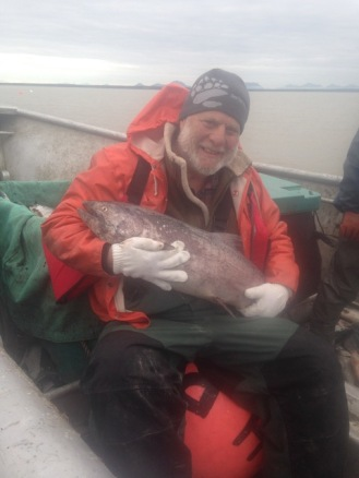 Kurlansky on a commercial gill netter in Bristol Bay, Alaska (photo courtesy of Mark Kurlansky)