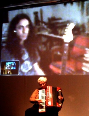 Still from Alan Courtis' 2009 live internet collaboration with Pauline Oliveros (photo courtesy of Alan Courtis)