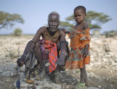 "A photo from Chris Jordan's 2011 series ""Ushirikiano"" depicting a Turkana tribal elder and his granddaughter in Nakuprat village, Kenya (photo courtesy of Chris Jordan)"