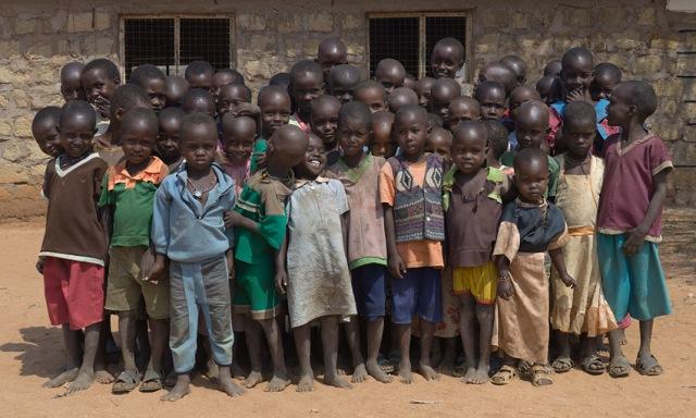 "A photo from Chris Jordan's 2011 series ""Ushirikiano"" depicting a class at Naisunyai Primary School, Westgate Community Conservancy (Samburu tribe) in Kenya (photo courtesy of Chris Jordan)"